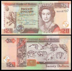 Belize 20 Dollars 2017 P-69 - UNC
