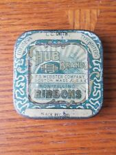 Vintage Typewritter Ribbon Tin  Black Non-Filling Tin F.S Webster Company