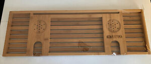 Royal Craft Wood Luxury Bathtub Caddy Tray - Wine Glass, Cup Holders, More - New