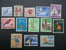 1961 South Africa definitive set, Fine used. SG198-210.