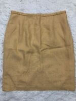 JG Hook Sz 10 Womens Yellow Pencil Skirt Lined Back Zipper with Slit Work Wear