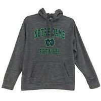 Notre Dame Fighting Irish Hoodie Sweatshirt L Large Gray SEW ON Pullover
