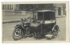 RPPC - BSA MOTORCYCLE TAXI Has FANCY ENCLOSED SIDECAR ca1920
