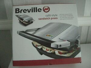 Breville VST025 Sandwich Press/Toaster Hold upto 3 Sandwiches S/Steel NEW IN BOX