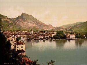 Vintage Photography Travel Riva Lake Garda Italy Art Canvas Print