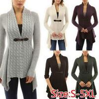 Women's Braid Cardigan Knitwear Sweaters Autumn Long Sleeve Slim Outwear