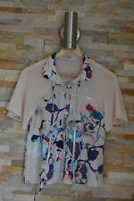 Yumi Floral Cream/Beige Shirt Top Size 8