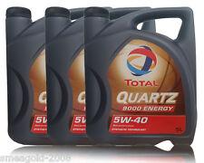 Aceite lubricante coche total Quarz 9000 Energy 5w40 5ltrs