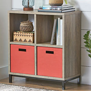 Better Homes & Gardens Square 4-Cube Storage Organizer with Metal Base, Multiple