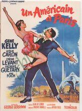 """CP affiche du film """"Américain à Paris"""" Gene KELLY Leslie CARON - Levant Guétary"""
