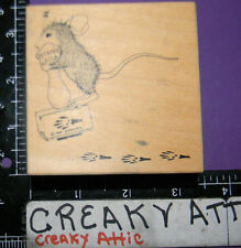 HOUSE MOUSE POGO STAMP RUBBER STAMP STAMPA ROSA LIMITED EDITION TRACKS