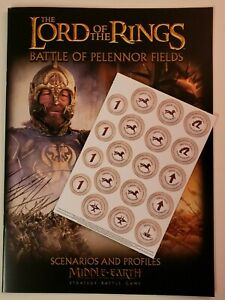 Battle of Pelennor Fields Rulebook and Tokens, LotR, GW