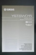 YAMAHA YST-SW015 Original Subwoofer System Bedienungsanleitung/Owner`s Manual