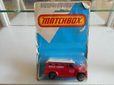 Matchbox Superfast Armored Truck Wells Fargo in Red on Blister