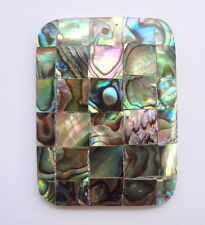 40x30mm Rectangular Natural Abalone Shell Gemstone Pendant (1pc)