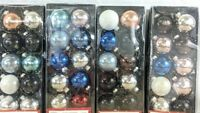 (E) Lot Of 40 Glass Christmas Tree Ornaments Assorted Colors Holiday Time