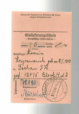 1940 Germany Dachau Concentration Camp money order Receipt KZ H Kosycsmanik