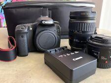 New ListingCanon Eos 70D Digital Slr Camera 20.2mp W/ 28-135mm + 50mm (Bundle)