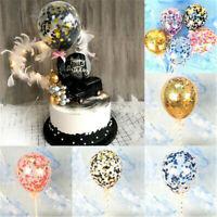 5 inch Foil Latex Confetti Balloons Set Baby Shower Wedding Birthday Hen Party