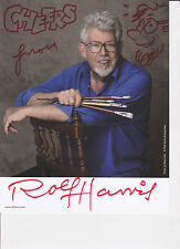 Rolf Harris HAND SIGNED 8x10 Photocard Autograph, Two Little Boys, Tie Kangaroo