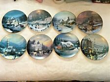 Thomas Kinkade Collectors Plates The Magic Of Christmas 8 Plates