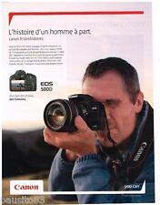 PUBLICITE ADVERTISING 095 2009  CANON  EOS 500D appareil photo  Les bergers