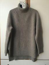 Zara Taupe Grey 100% Wool Sweater Size S