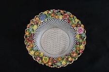 Schierholz Hand Painted Floral Encrusted Elfinware Porcelain Basket C. 1907 - 27
