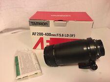 Tamron AF 200-400mm 5.6 LD IF lens for Nikon Cameras Plus Lowpro Padded Bag
