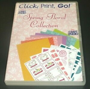 Click, Print, Go Spring Floral Collection PC CD-ROM from My Craft Studio