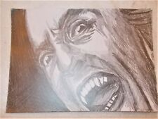 A4 Art Graphite Pencil Sketch Drawing Christopher Lee as Dracula Poster a