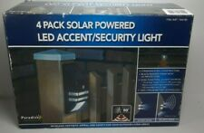 PARADISE 4 Pack Solar Powered Led Accent/Security Light Black Size W3'' X H6.65