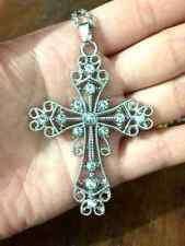 Free shipping 1pcs silver cross pendant inlaid many beautiful  crystal0