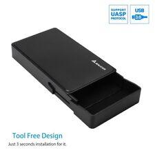 "USB 3.0 externe Festplatten Gehäuse 3,5"" (8,89cm) SATA HDD Kabel + Netzteil"