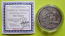 Silver 2016 5 oz THE TRAIN ANTIQUE PROOF - Hobo Nickel Series - MrThe Design