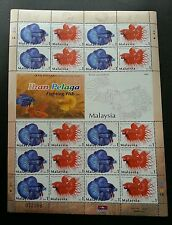 Fighting Fish Malaysia 2003 Ornamental Pet Aquarium (sheetlet) MNH *toning dot