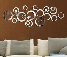 Mirror Stlye DIY Removable Decal Vinyl Art Wall Sticker Home Decor 24 Circles