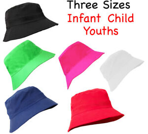 Boy Girl Kids Bucket Hat Youths Toddler Summer Outdoor Sun Beach Cap Infants