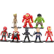 The Avengers Figure 8pcs/Set Spiderman Hulk Captain Iron Man Thor Figurine Toys