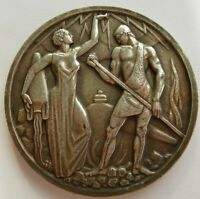 Algerie 1950 Silver Medal Electricity & Gas from Algeria, Allegory 60mm 122,9gr