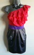 Size 12 Dress LIPSY Red Grey Purple BNWT Mini Dress Party Cocktail Women's