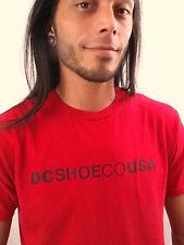 DC SHOES Red 100% Cotton Size M T-Shirt