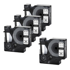 4pk For Dymo Rhino 4200 5200 12 Black On White Flexible Nylon Label Tape 18488