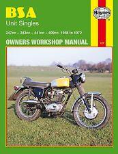 0127 Haynes BSA Unit Singles (1958 - 1972) Workshop Manual
