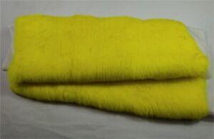 "100% Real  Rabbit Plate Throw Rug Blanket Patchwork Skin Fur Material 24""x 43''"