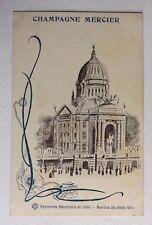 CPA. PARIS. 75 - Expo. Universelle 1900. Champagne Mercier. Pavillon États Unis