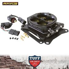 Aeroflow Black Billet Aluminium 4 Barrel 1375cfm Throttle Body suit 4150 & 4500