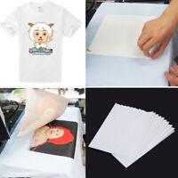 20 Sheets A4 Iron On Inkjet Print Heat Transfer Paper T-Shirt Light Dark Fabric