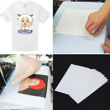 20 Sheets A4 Inkjet Print Heat Press Transfer Paper T-Shirt Light Dark Fabric