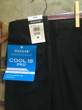 Nwt Haggar men shorts sz.40W, Cool18 Pro,comfort stretch,blk,expand waist